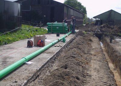 Entwässerung einer Asphaltlagerfläche