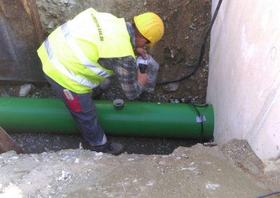 Wurzelschutz für Kommunale Abwasserleitungen DN 315