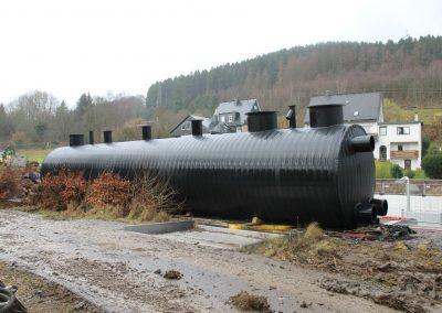 Schwallwasserbehälter 50 m³ mit Maschinentechnik