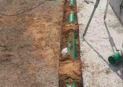 Entwässerung einer Fahrsiloanlage