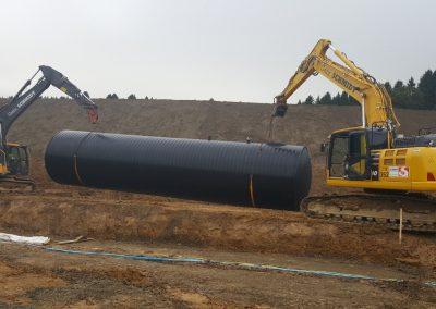 Löschwasserbehälter 100 m³