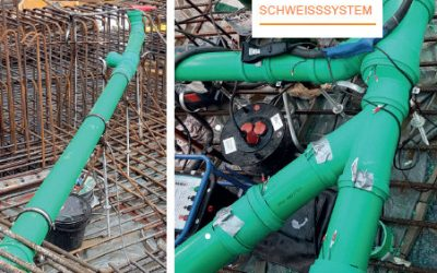 IP-plus Schweißsystem für hochdichte Gebäudeentwässerung